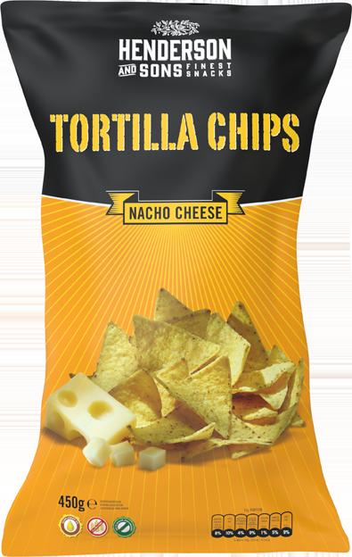H&S Tortilla Chips Nacho Cheese XXL