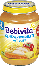 Bebivita Menü Gemüse Spaghetti mit Pute