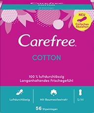 Carefree Slipeinlagen Cotton Gr. S/M