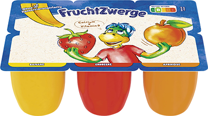 Danone Fruchtzwerge Banane, Erdbeere, Aprikose
