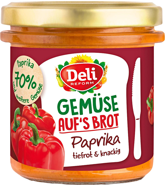 Deli Gemüse auf's Brot Paprika