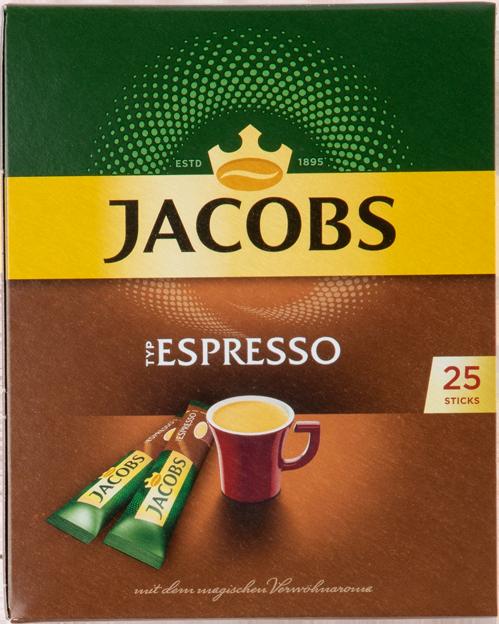 Jacobs löslicher Kaffee Espresso Sticks