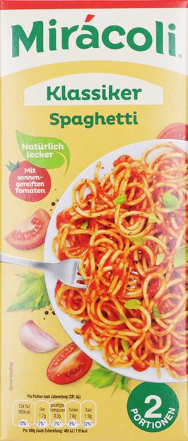 Miracoli Spaghetti mit Tomatensauce