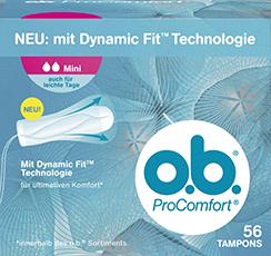 o.b. Pro Comfort Mini auch für leichte Tage