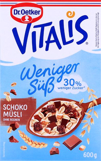 Dr. Oetker Vitalis Weniger süß Schoko Müsli