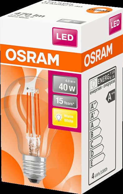 Osram LED Retrofit Classic 4W E27
