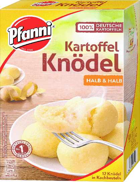 Pfanni Kartoffel Knödel halb & halb