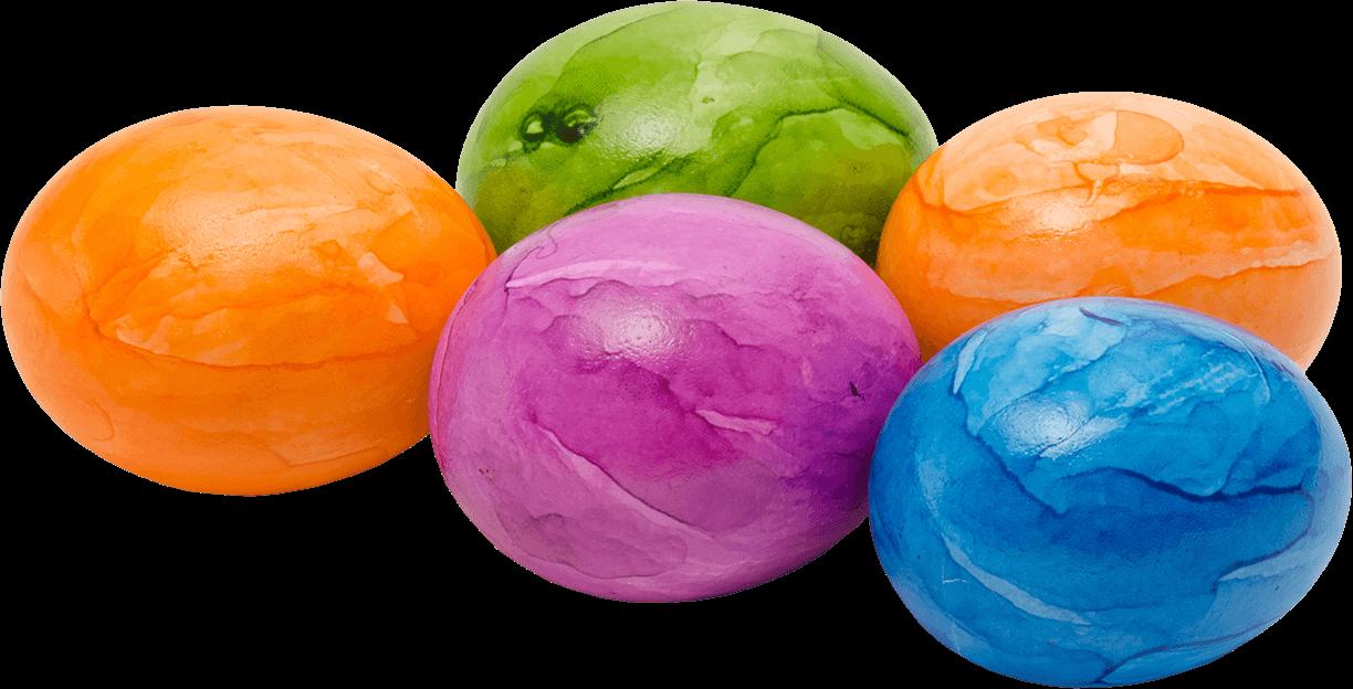 Bunte Eier aus Bodenhaltung