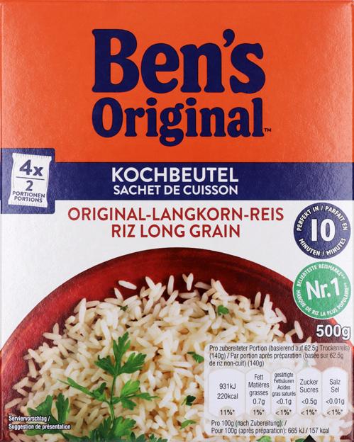 Uncle Ben's 10-Min Reis Kochbeutel
